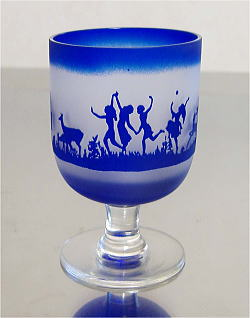 ポートワイングラス ブルー