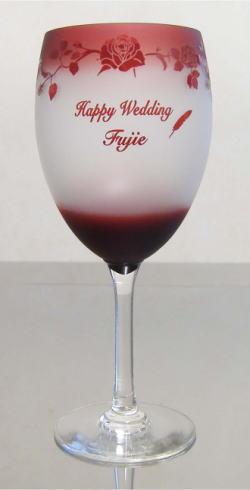 ワイングラス レッド